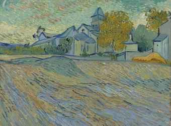Vue de l'asile et de la Chapelle de Saint-Rémy