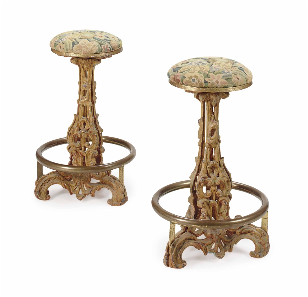 A PAIR OF BRASS MOUNTED YELLOW PAINTED CAST IRON BAR  : d5533266a from www.christies.com size 1062 x 1024 jpeg 312kB
