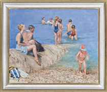 Figures by the sea (The Artist's family)