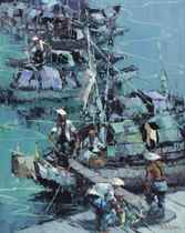 Indonesian junks in the Marina
