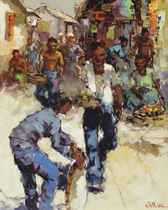 Indonesian street sellers