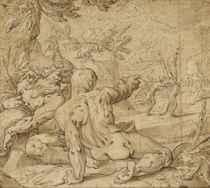 Apollon poursuivant Daphné (recto); Vierge à l'enfant (verso)