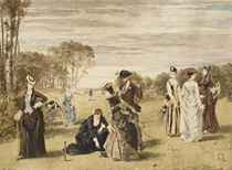 Elégants jouant au croquet