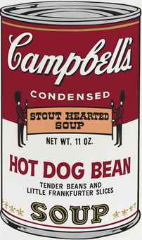 andy warhol Hot Dog Bean, from: Campbell's Soup II (F. & S. II 59)