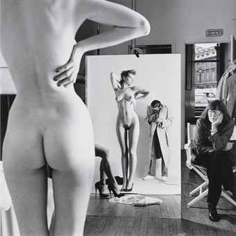 Self Portrait with Wife and Models, Paris, 1981