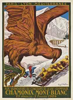 CHAMONIX MONT-BLANC, VIIIme OLYMPIADE 1924