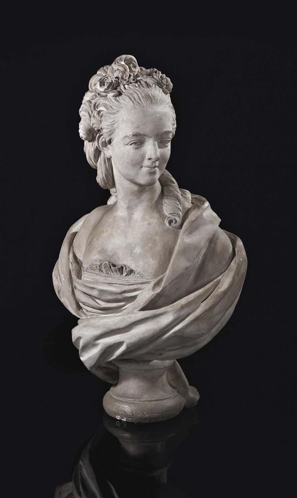 buste en platre representant probablement marie adelaide de france dite madame adelaide 1732. Black Bedroom Furniture Sets. Home Design Ideas