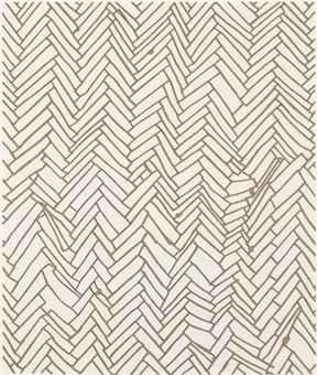 Rachel whiteread b 1963 herringbone floor prints for Floor prints