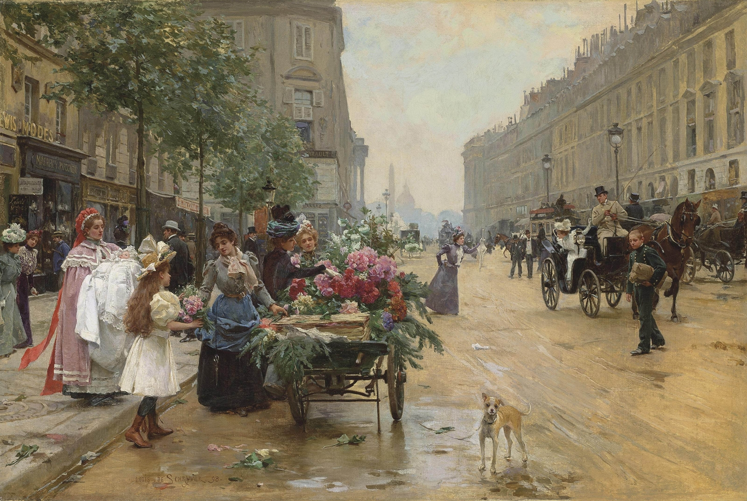 Best Buy Private Auction >> Louis Marie de Schryver (French, 1862-1942) | Rue Royale, Paris | 19th Century, Paintings ...