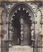 West Porch, Lichfield, 1858, printed early 1860s