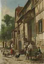 'Une rue à Filsen, bords du Rhin'