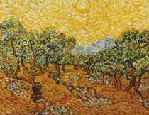 Olive Trees with Yellow Sky, After Vincent Van Gogh (Pictures of Pigment)