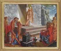 Classical figures with a sacrificial altar