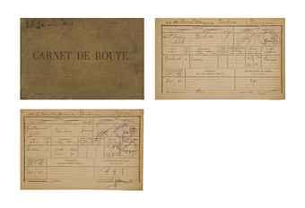 [SAINT-EXUPÉRY, Antoine de (1900-1944)] -- Carnet de route de l'avion Breguet-Latécoère XIV Torpedo, portant le numéro de série 162. Carnet in-8 oblong (165 x 250 mm), cartonnage toile d'origine. (Cartonnage taché, mors fendu.)