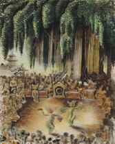 Legong Performance Under Banyan Tree