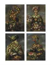 Four anthropomorphic figures: An allegory of the four seasons
