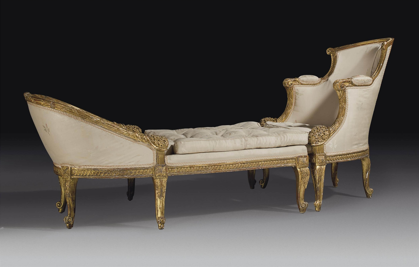 A Louis Xvi Giltwood Duchesse Brisee By Georges Jacob