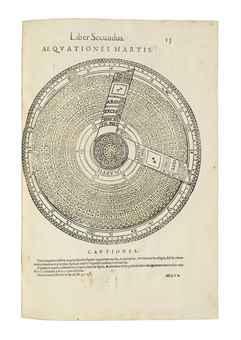 GALLUCCI, Giovanni Paolo (1538-c.1621). Speculum Uranicum in quo vera loca tum octavae sphaerae tum septem planetarum mira facilitate ad quod libet datum tempus ex prutenicarum ratione colliguntur. Venice: Damianus Zenarus, 1593.