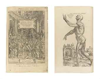 VESALIUS, Andreas (1514-1564). De Humani Corporis Fabrica Libri Septem. Basel: Johannes Oporinus, August 1555.
