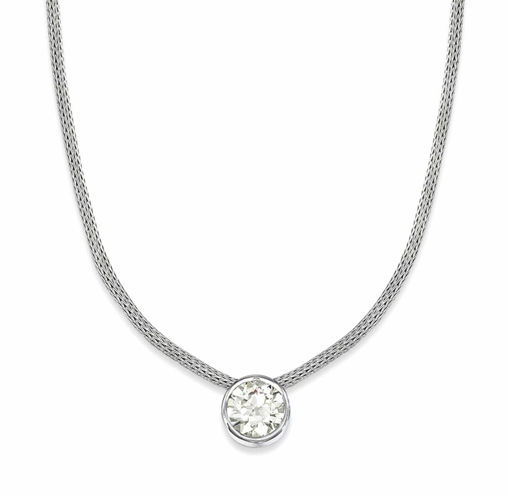a diamond single stone pendant necklace necklace. Black Bedroom Furniture Sets. Home Design Ideas