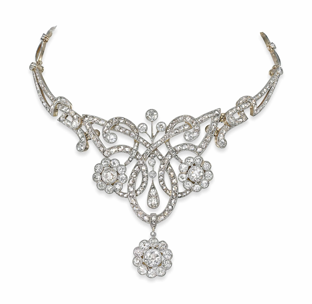 An Antique Diamond Necklace Tiara Necklace Diamond