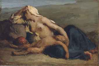 Jean-François Millet (French, 1814-1875) | Hagar and Ishmael ...