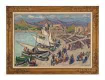 Séchage de filets à Collioure