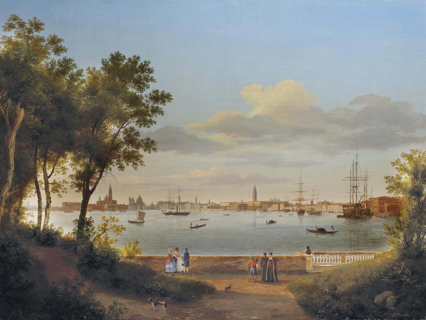 Giuseppe canella verone 1788 1847 florence vue de for Giardini a venise