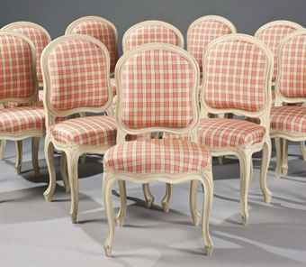 Suite de quinze chaises a la reine de style louis xv for Chaise xixeme siecle