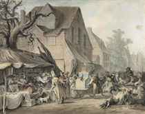 A street scene with a fair, Mortlake