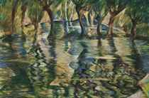 River Landscape; Picnic by the river (verso)