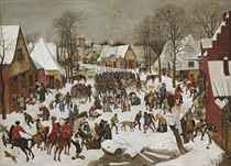 A winter landscape with the Massacre of the Innocents