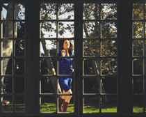 Untitled (Malerie running into door), 2001