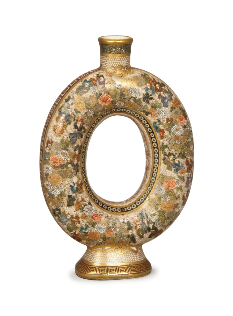A Japanese Satsuma Vase Gilt Mark To The Base 20th Century Interiors Auction Asia All