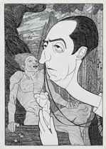 Caricature of Glyn Warren Philpot