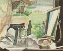 Still life and looking glass
