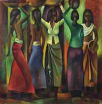 Women with offerings