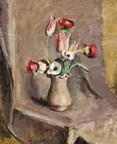 Tulipes et anemones