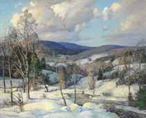 Winter in Temple, New Hampshire