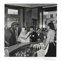 Café Noir et Blanc, Chez Gégène, avenue Galliéni, Joinville-le-Pont, 1948