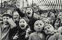 Children at a Puppet Theatre, Paris, 1933