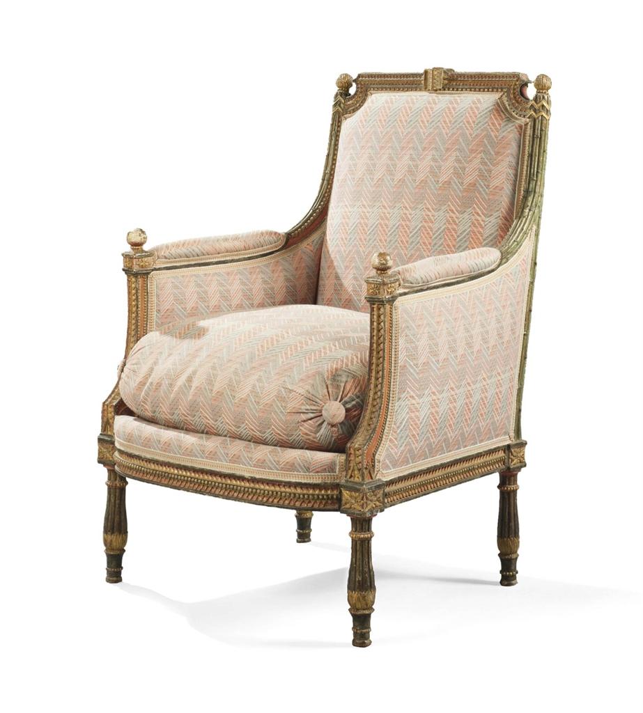 bergere a la reine d 39 epoque louis xvi estampille de georges jacob fin du xviiieme siecle. Black Bedroom Furniture Sets. Home Design Ideas