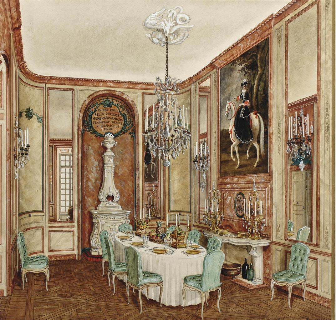 Alexandre serebriakoff 1907 1994 salle manger h tel - Salle a manger baroque ...