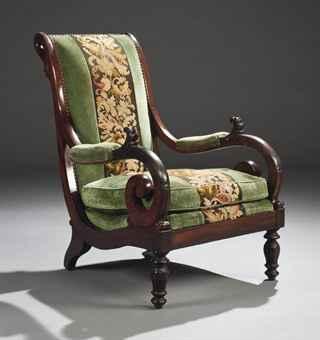 Fauteuil voltaire d 39 epoque restauration vers 1820 - Restauration fauteuil voltaire ...