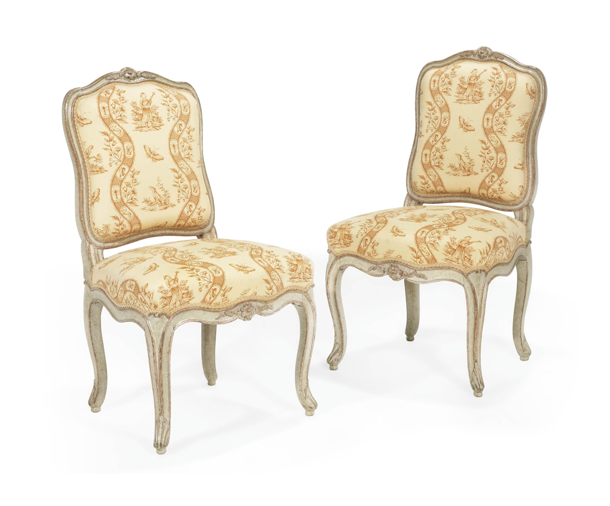 Paire de chaises d 39 epoque louis xv estampille de jean for Atelier st jean chaise bercante