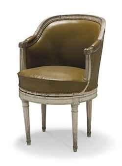 fauteuil de bureau d 39 epoque louis xvi fin du xviiieme siecle silver auction fauteuil. Black Bedroom Furniture Sets. Home Design Ideas