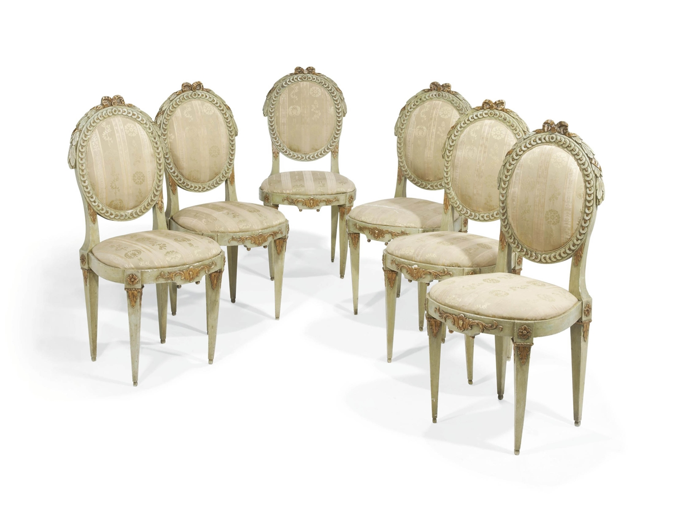 Six chaises d 39 epoque louis xvi fin du xviiieme siecle for Chaises louis xvi occasion