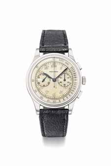 Movado. An attractive stainless steel chronograph wristwatch with Breguet numerals