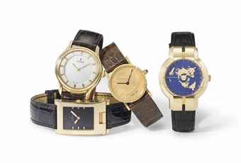 Corum. A lot of four 18K gold mechanical wristwatches