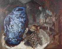 NATURE MORTE AU VASE BLEU